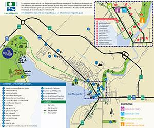 Carte de la ville de Lac-Mégantic