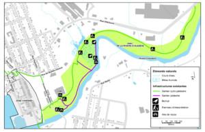 Carte du parc de la rivière Chaudière