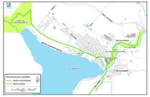Carte du circuit cyclable à Lac-Mégantic