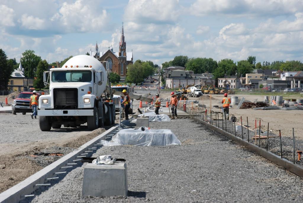 Construction de la rue Frontenac